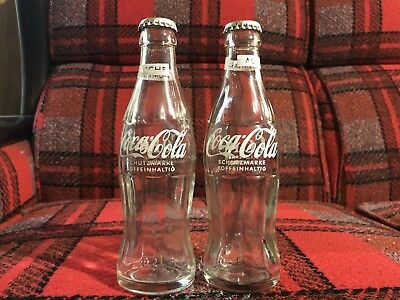 2 German Coke Bottles with caps