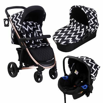 My Babiie MB200+ Katie Piper Rose Gold & Black Chevron Baby Child Travel System