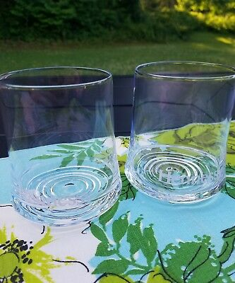 2 Hennessy Swirl Bottom Weighted Tumbler Glasses set OF 2, shot glass, rocks
