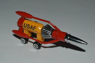 Vintage Thunderbirds USAF Space Vehicle Fighter Yot Toys Made In Taiwan Excellen
