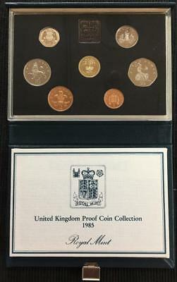 1985 Royal Mint UK Proof Coin Set In Blue Standard Case With C.O.A