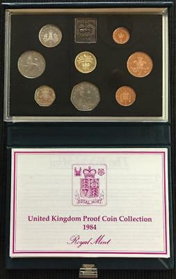 1984 Royal Mint UK Proof Coin Set In Blue Standard Case With C.O.A