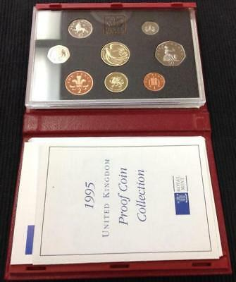 Great Britain 1995 Deluxe Proof Coin Set, Red Case with COA