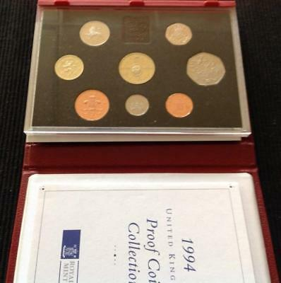 Great Britain 1994 Deluxe Proof Coin Set, Red Case with COA