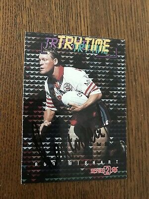 Rod Wishart Hand Signed 1996 Nrl Card