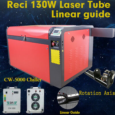 DSP Reci 130W CO2 Laser Cutting Engraver Machine RD System Linear Guide AU Ship