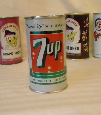 Beautiful 7 Up Juice Tab Pop Can  -  Pre Zip 1963 Can!