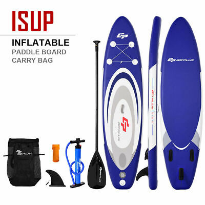10' Inflatable Stand up Paddle Board Surfboard SUP W/ Bag Adjustable Paddle Fin