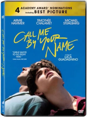 Call Me by Your Name (2017) DVD R0 - Armie Hammer, First Love Drama