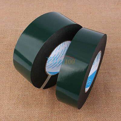 10m Super Strong Waterproof Self Adhesive Double Sided Foam Tape Black Hot inm