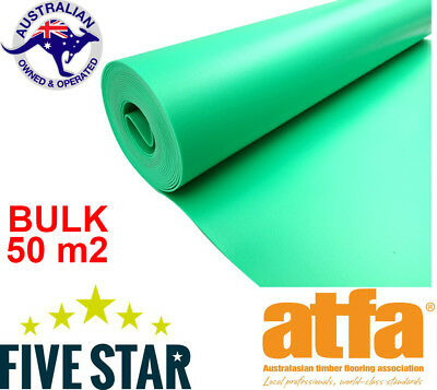 50m2 5Star Green acoustic Underlay Laminate/Engineered/Bamboo(2mm)