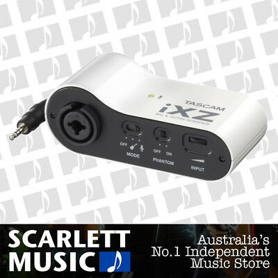 IXZ Tascam Microphone and Guitar Interface iPad iphone Recording Mic Audio