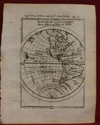 California As Island Americas  West Hemisphere 1719 Manesson Mallet Antique Map
