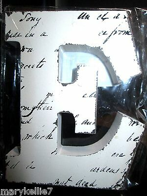"New Off White Block Letter Blk Handwriting Letter ""e""  4.5""t X 3.75"" W"
