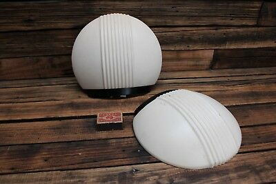 Vintage Pressed Metal Scallop Shell Up Light Fittings Art Deco Antique