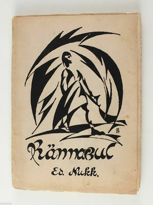 1923 Estonia Avant Garde Cover by SCERBAKOFF book EDUARD NUKK Poetry Rännakul