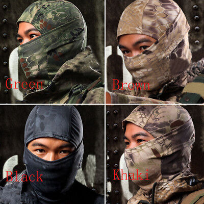 Outdoor Camouflage Army Full Face Mask Ski Motorcycle Cycling Balaclava Warm FAS