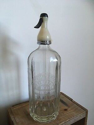 Vintage Hitchman & Co. Of Chipping Norton Glass Soda Water Syphon