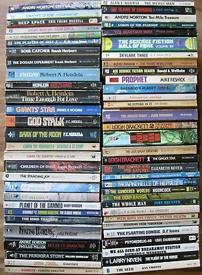 Vintage Mixed Lot of 60 Science Fiction Various Authors Paperbacks (Box #175)