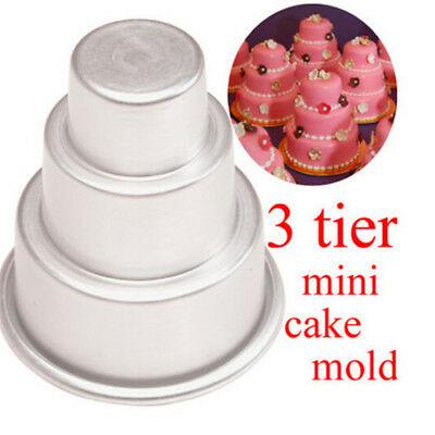 Creative 3Tier Cupcake Chocolate Pudding Cake Mold For Baking Pan kitchen Party.