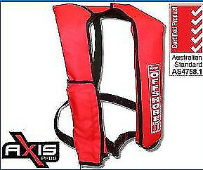 AXIS OFFSHORE INFLATABLE  LIFEJACKET ✱ RED ✱ 150N PFD1 Manual Life Jacket