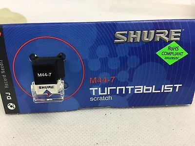 Shure -  M44-7 Cartridge and Stylus Needle - DJ Scratch - New and Unused -