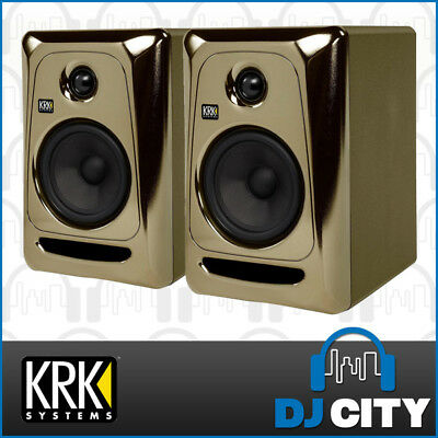 KRK ROKIT 5 inch G3 Studio Active Monitor Speakers Pair Limited Edition Gold