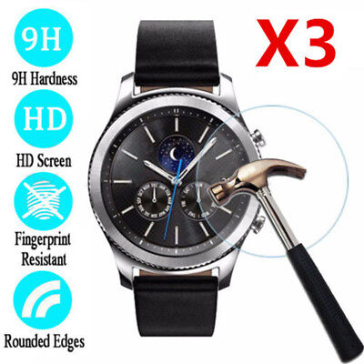 3PCS Tempered Glass Screen For Samsung Gear S3 Classic/Frontier Protection Film
