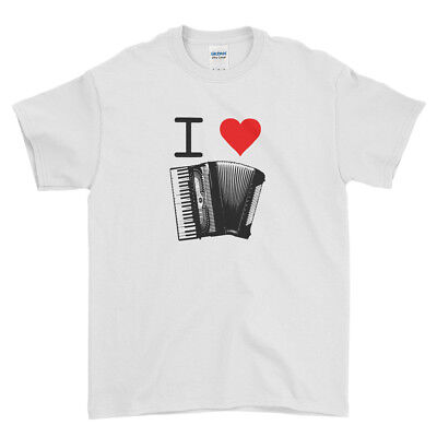 I love Music Instruments Funny Dance Song Men T Shirt Top Tee