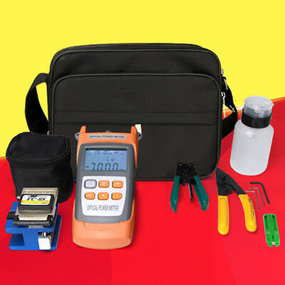 New FTTH Fiber Optic Tool Kit Tester Cleaver Optical Power Meter 5 Mw Visual PGS