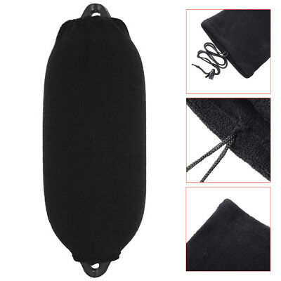 Boat Inflatable Fender Cover Black Sock Buffer UV Salt Protection