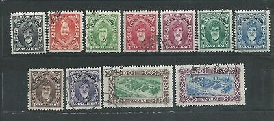 Zanzibar - 1952 Definitives - Complete set to 2 Shillings value - Postally Used