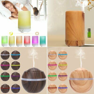Ultrasonic Air Humidifier LED Essential Oil Aroma Aromatherapy Diffuser Purifier