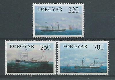 Faroe Islands SG78-80 1983 Old Cargo Liners Unhinged Mint