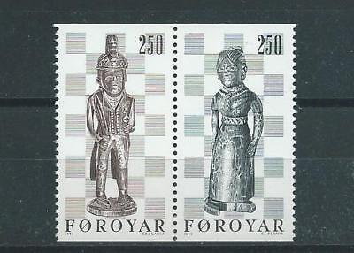 Faroe Islands SG81-82 1983 Chess Pieces Unhinged Mint