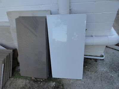Porcelain Wall and Floor Tiles - Gloss White/Brown &  Matt Brown - Never Used