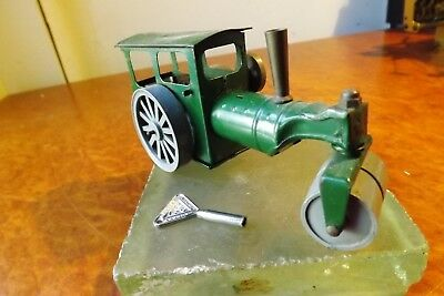 """TRI-ANG MINIC MODEL No.33M Tin Plate """"STEAM  ROAD ROLLER""""  Made in England w Key"""