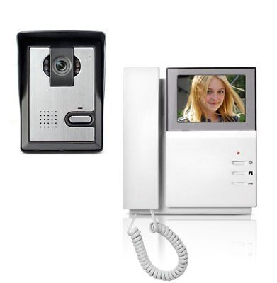AMOCAM Video Door Phone System, 4.3 Inch Clear LCD Monitor Wired Video Intercom