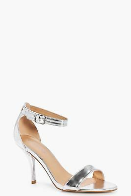 BOOHOO WOMENS WIDE Fit Low Heel Two Parts in Silver size 6
