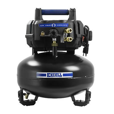 Excell U256PPE 1.5 Hp Oil Free 6 gallon Pancake Air Compressor