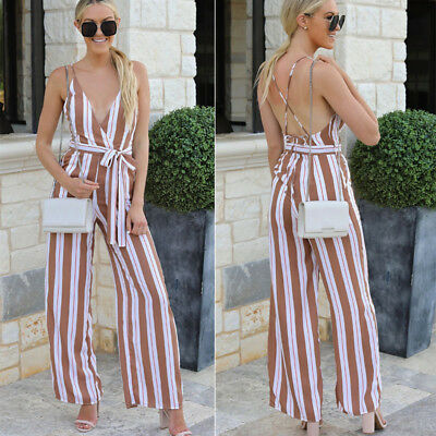 f71a9e39bdf8 Hot Women Ladies Clubwear V Neck Playsuit Bodycon Party Jumpsuit Romper  Trousers