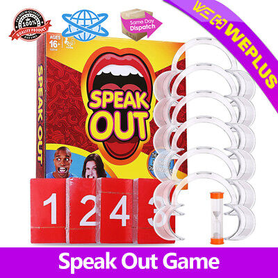 Speak Out  Game Board  Mouthpiece Challenge Game Family Party Kids Fun Toy