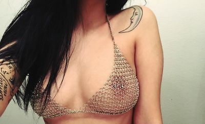 New Medieval Viking Reenactment Chain Mail Bra For Women For Reproductions