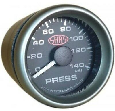 "Saas Oil Pressure Gauge 52Mm 2"" Inch Black Face Electric Multi Colour New"