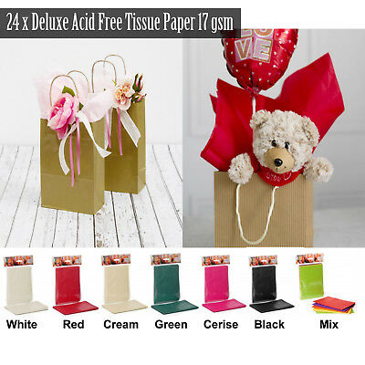 Deluxe Acid Free Tissue Paper 24 Sheets 500mmx750mm 17gsm Gift Wrap