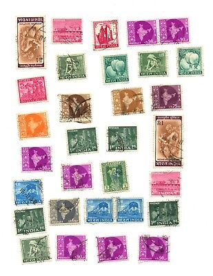 India Collection of 31 stamps