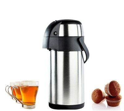 5L Stainless Steel Air Pot Pump Action Insulated Vacuum Thermal Flask Jug 5Litre