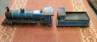 LIve Steam Locomotive train With Tender 1-3/4 inch gauge .SOLD AS SEEN body only