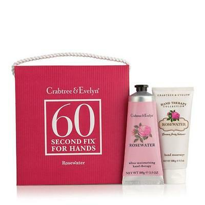 Crabtree & Evelyn 60 Second Fix Kit For Hands - Rosewater