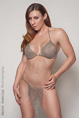New Medieval Viking Chain Mail Bra And Pantie Handmade Collectibles Reenactment